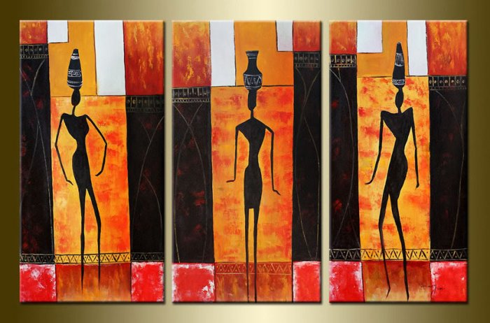 Modern Oil Paintings on canvas abstract painting -set12010