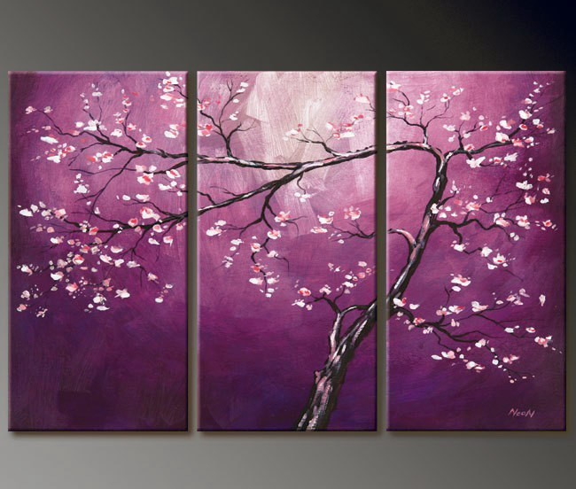 Modern Oil Paintings on canvas abstract painting -set12012