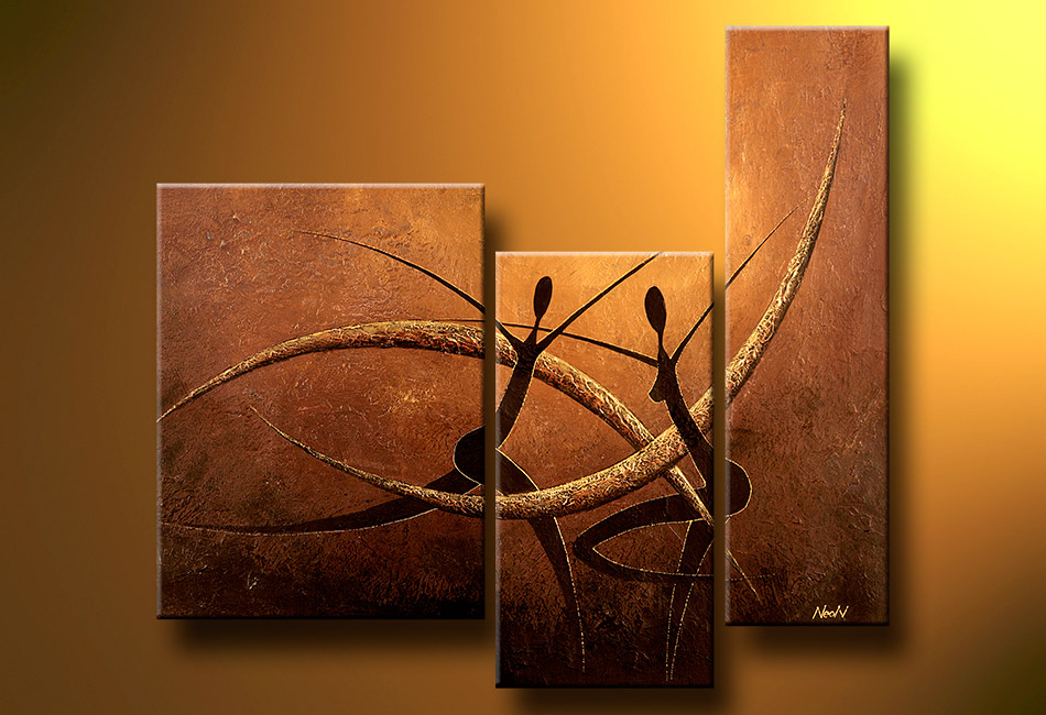 Modern Oil Paintings on canvas abstract painting -set12017