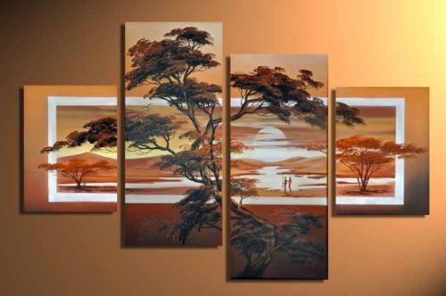 Modern Oil Paintings on canvas abstract painting -set12031