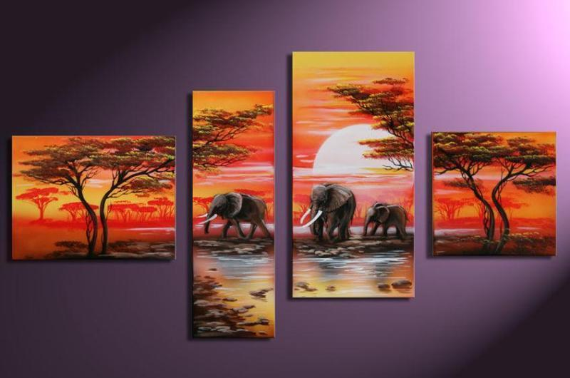 Modern Oil Paintings on canvas abstract painting -set12035