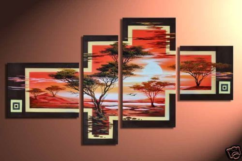 Modern Oil Paintings on canvas abstract painting -set12037