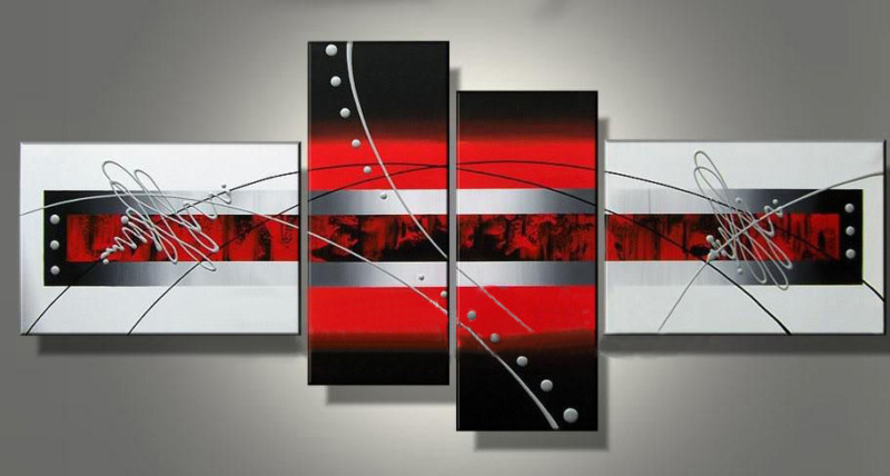 Modern Oil Paintings on canvas abstract painting -set12050