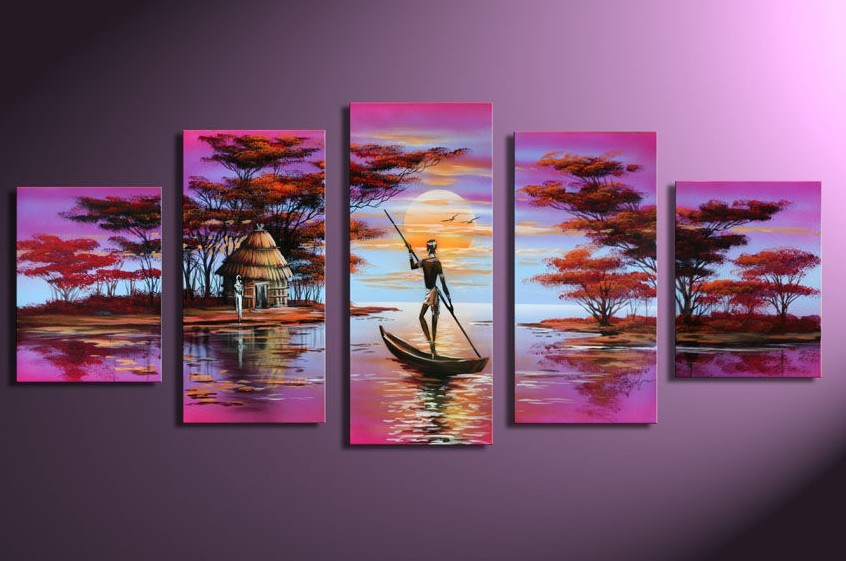 Modern Oil Paintings on canvas abstract painting -set12079