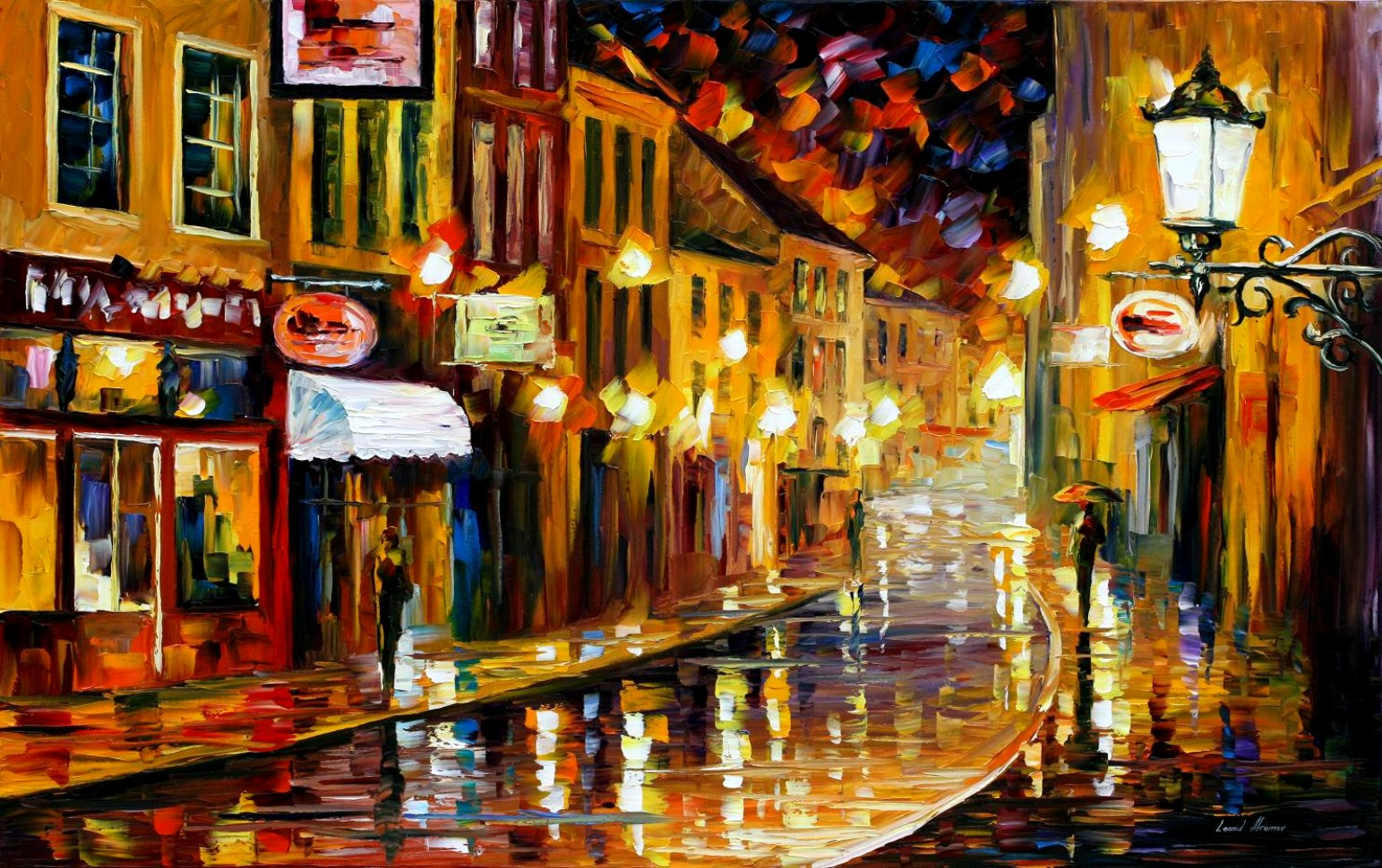 Modern impressionism palette knife oil painting City014