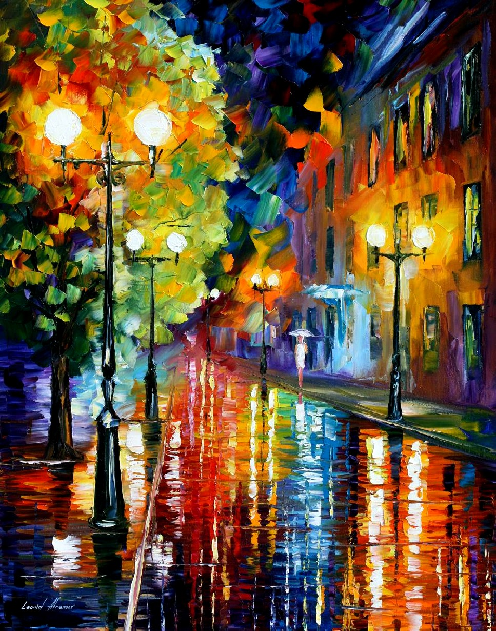 Modern impressionism palette knife oil painting City025