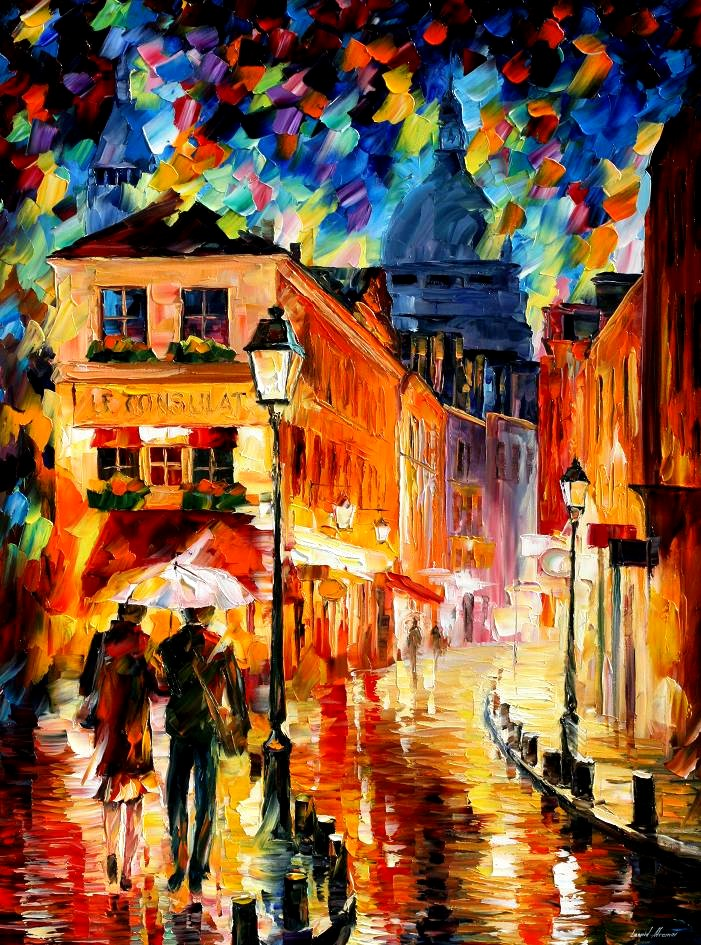 Modern impressionism palette knife oil painting City092