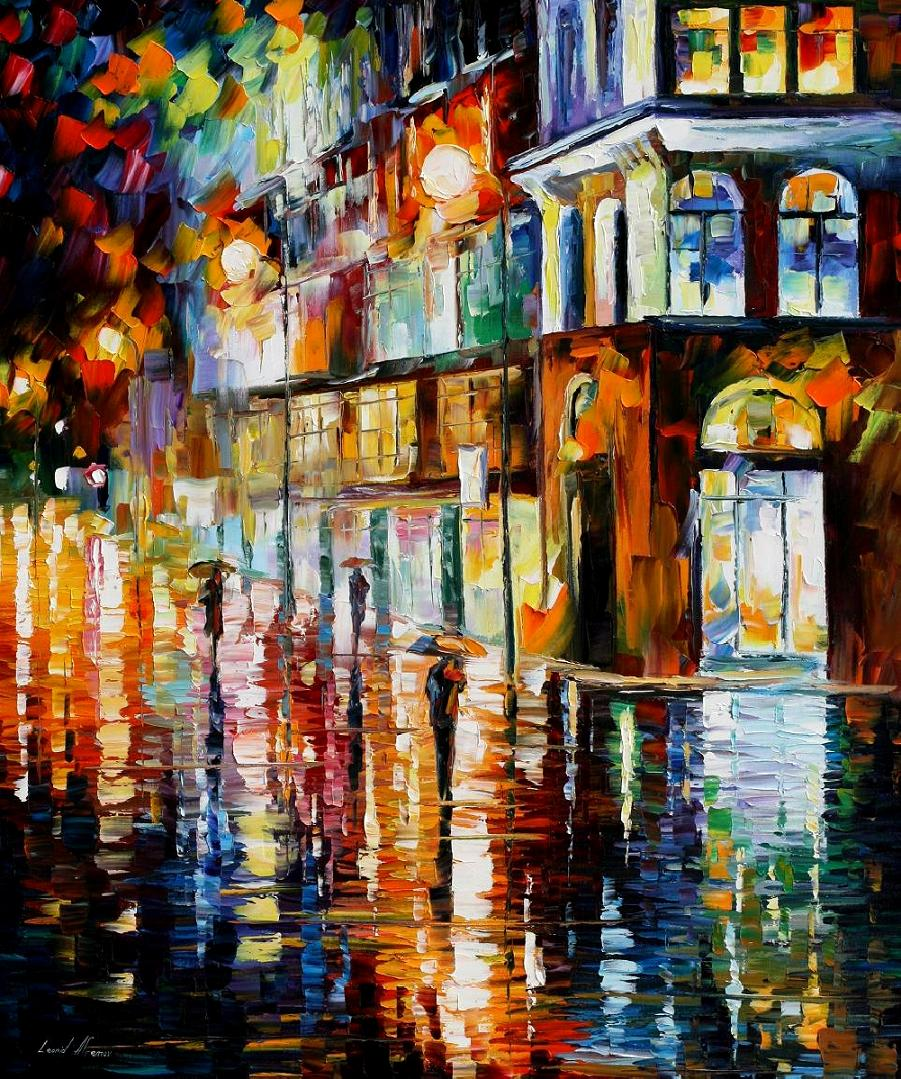 Modern impressionism palette knife oil painting City100
