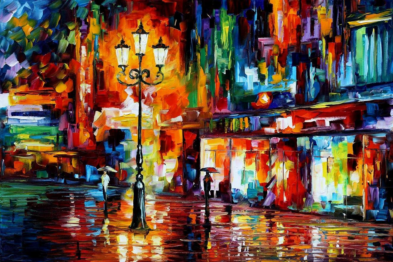 Modern impressionism palette knife oil painting kp15014