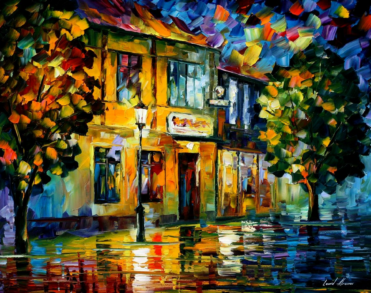 Modern impressionism palette knife oil painting kp15028