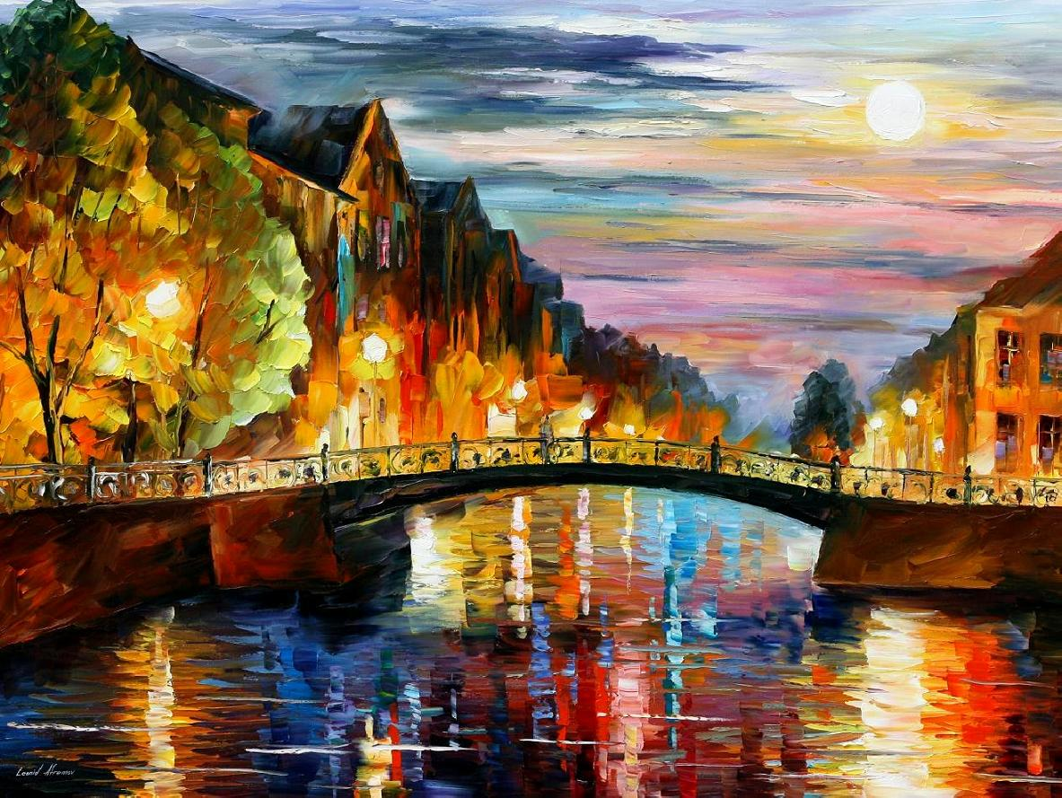 Modern impressionism palette knife oil painting kp15033