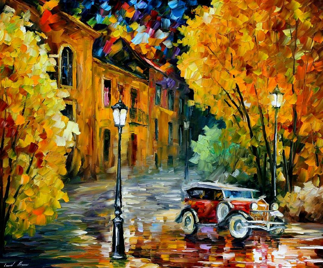 Modern impressionism palette knife oil painting kp15043