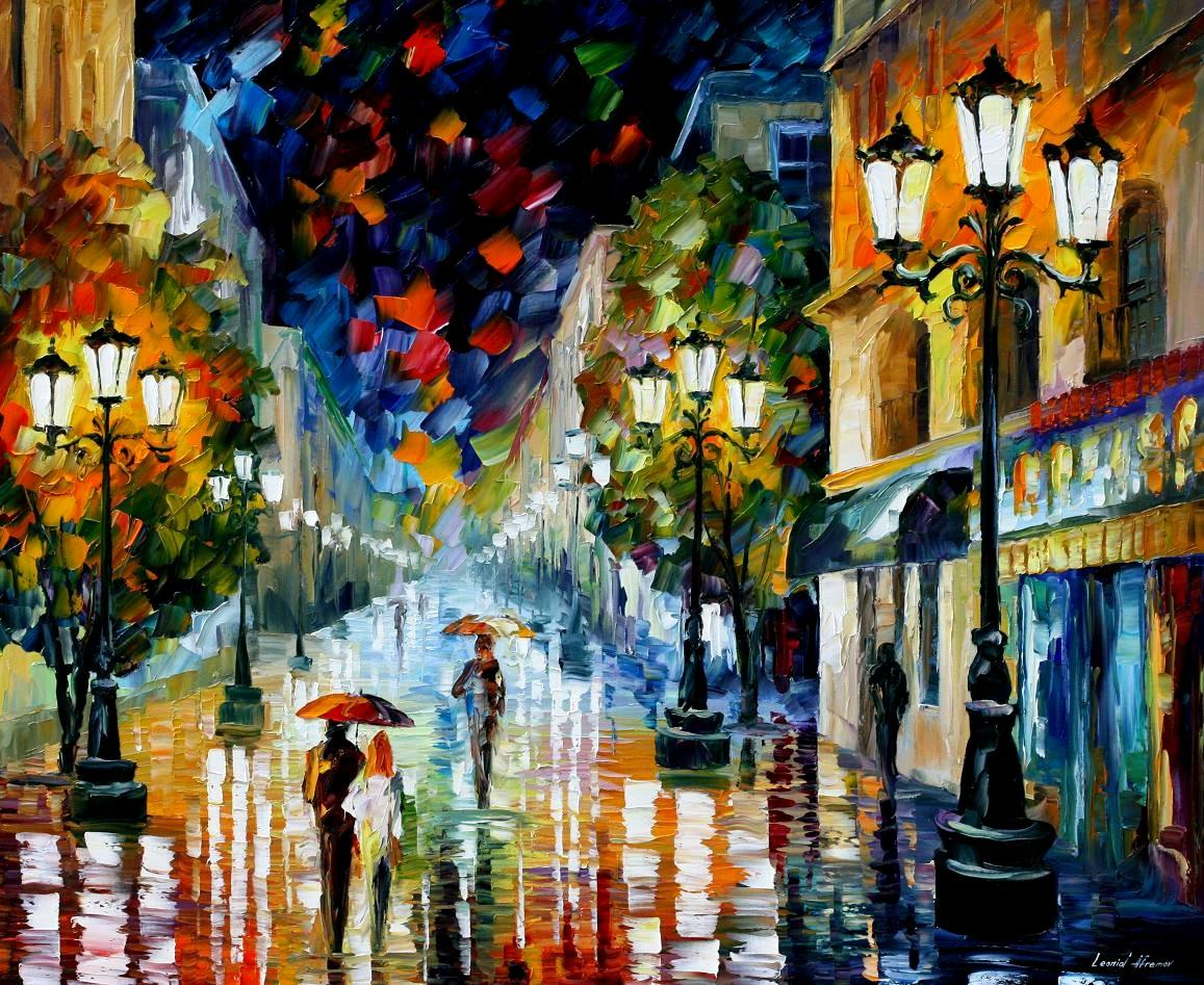 Modern impressionism palette knife oil painting kp15069