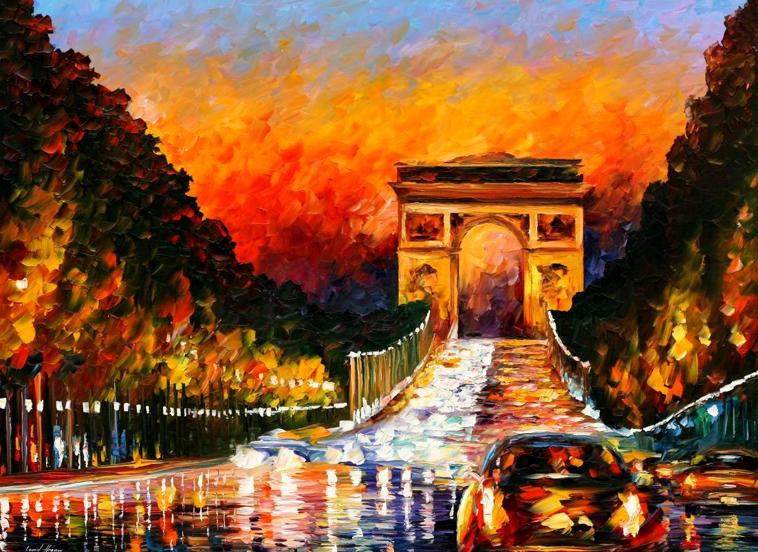Modern impressionism palette knife oil painting kp15121