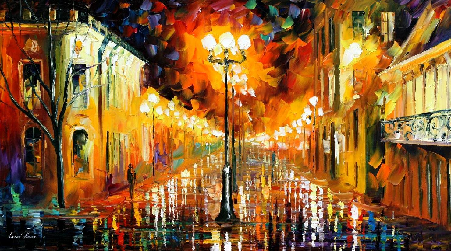 Modern impressionism palette knife oil painting kp15168