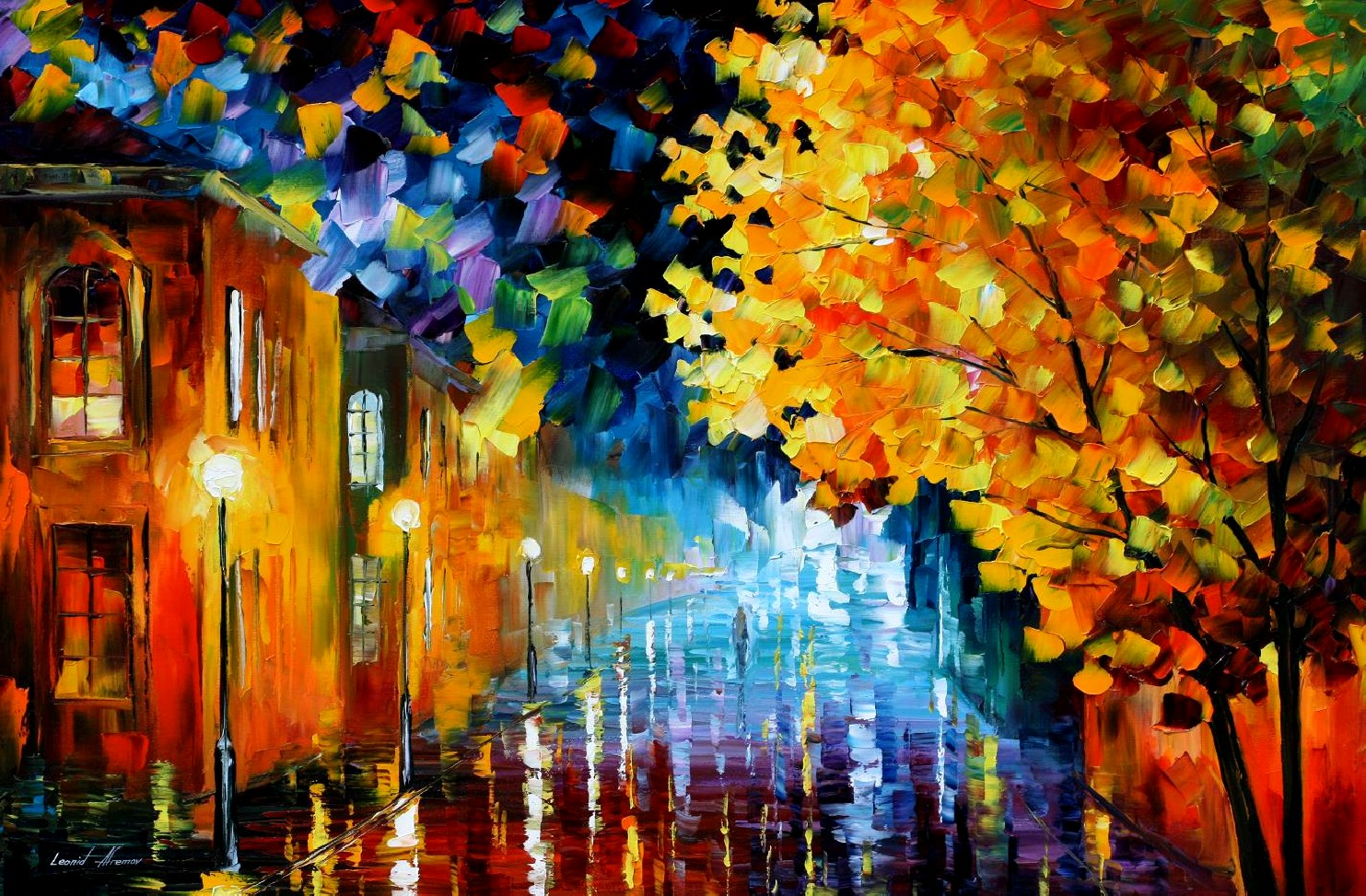 Modern impressionism palette knife oil painting kp15175