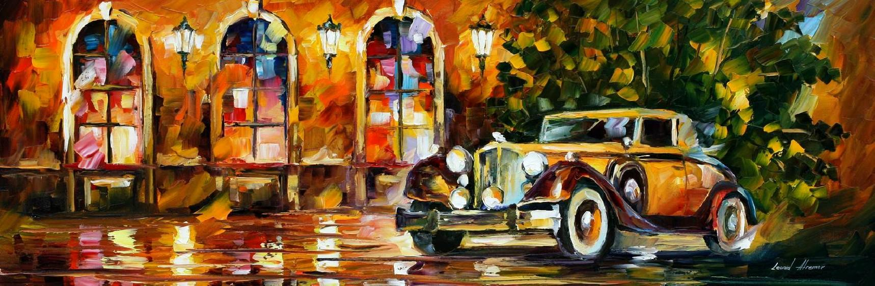 Modern impressionism palette knife oil painting kp15192