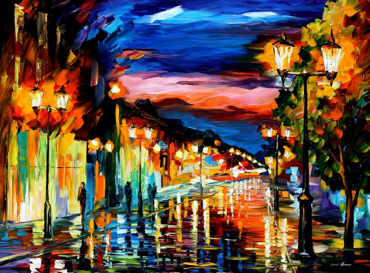 Modern impressionism palette knife oil painting kp15236