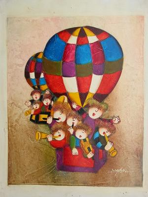 Dafen Oil Painting on canvas -child51