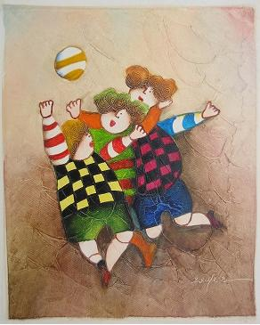 Dafen Oil Painting on canvas -child52
