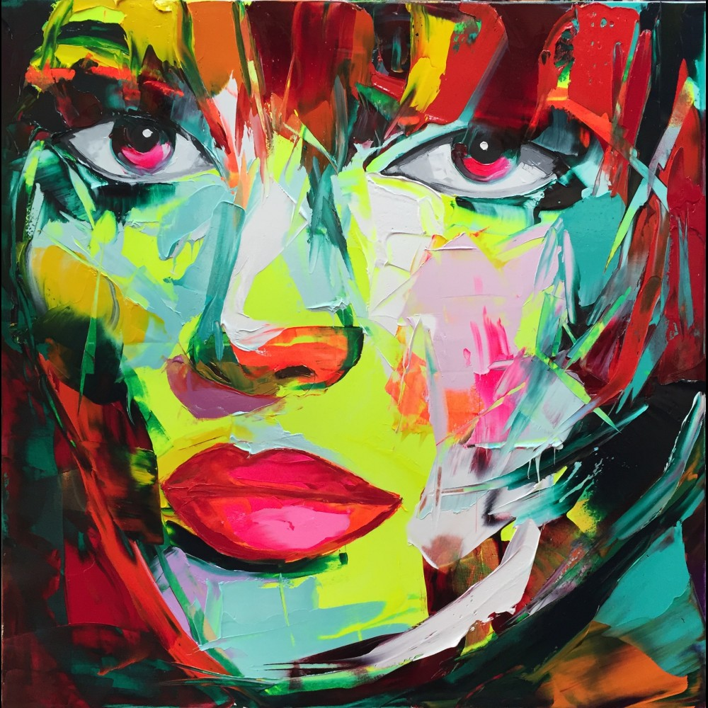 Francoise Nielly Portrait Palette Painting Expression Face011