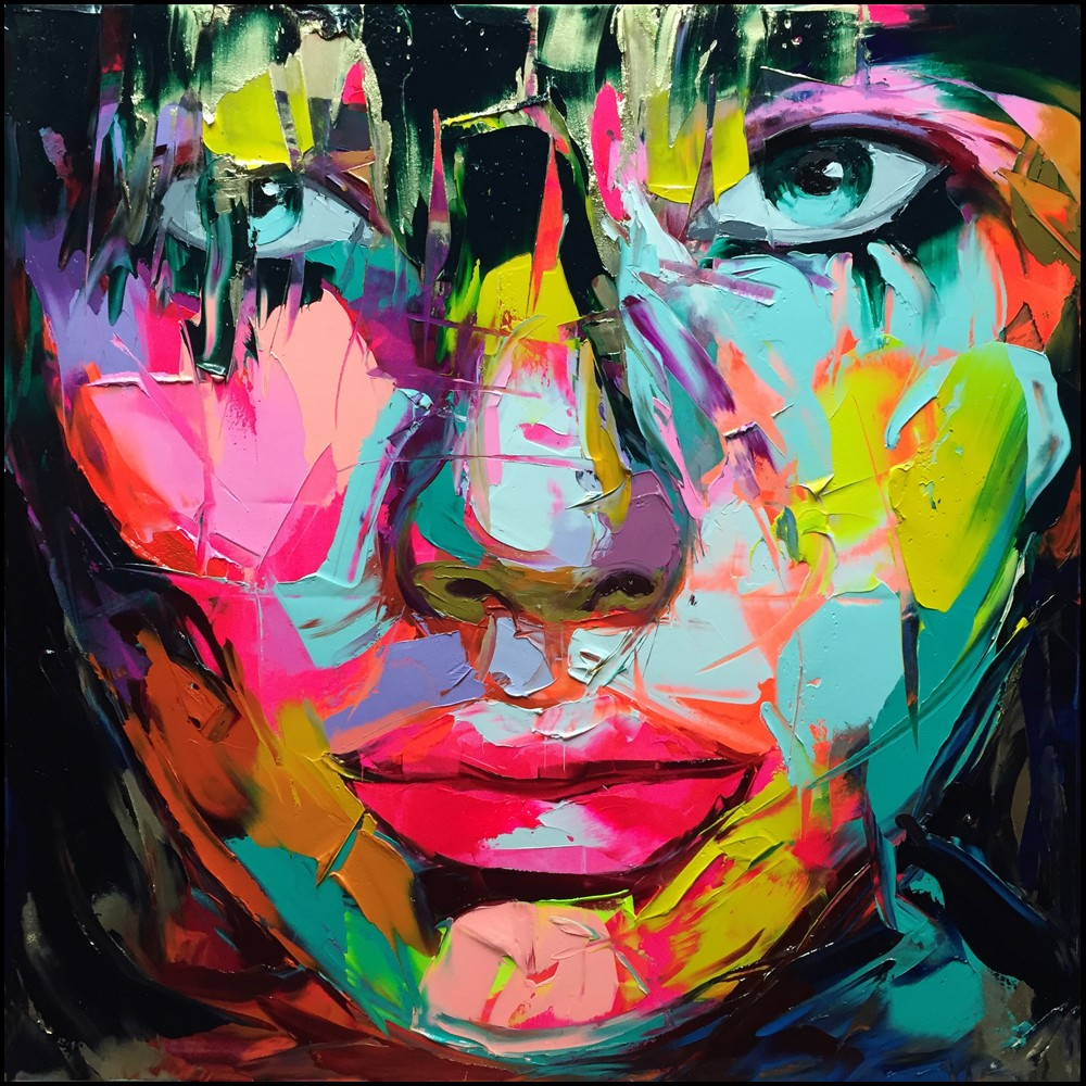 Francoise Nielly Portrait Palette Painting Expression Face015