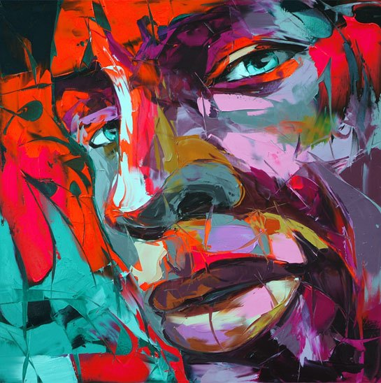 Francoise Nielly Portrait Palette Painting Expression Face021