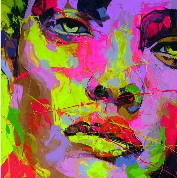 Francoise Nielly Portrait Palette Painting Expression Face045