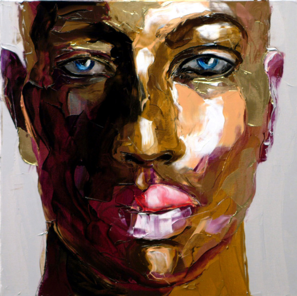 Francoise Nielly Portrait Palette Painting Expression Face046