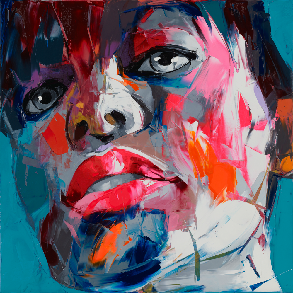 Francoise Nielly Portrait Palette Painting Expression Face048