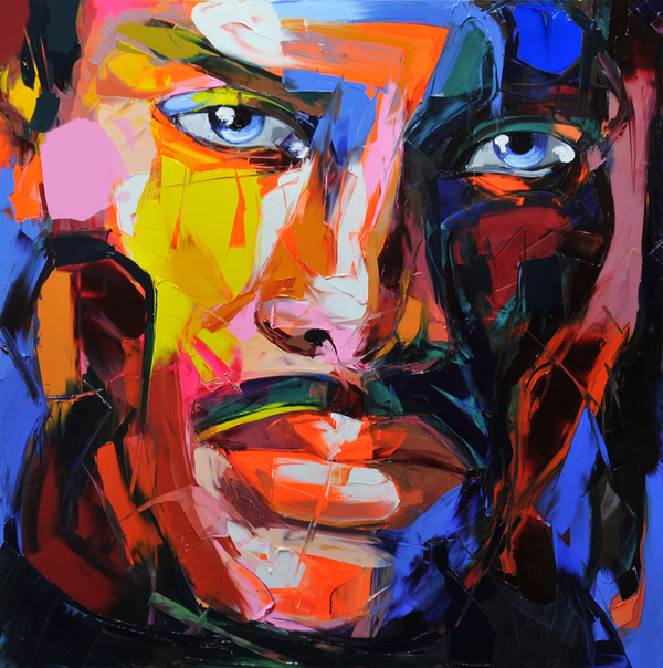 Francoise Nielly Portrait Palette Painting Expression Face056