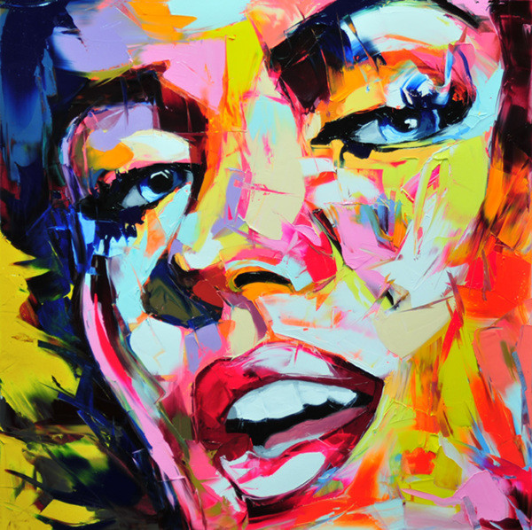 Francoise Nielly Portrait Palette Painting Expression Face061