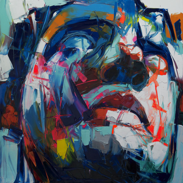 Francoise Nielly Portrait Palette Painting Expression Face063