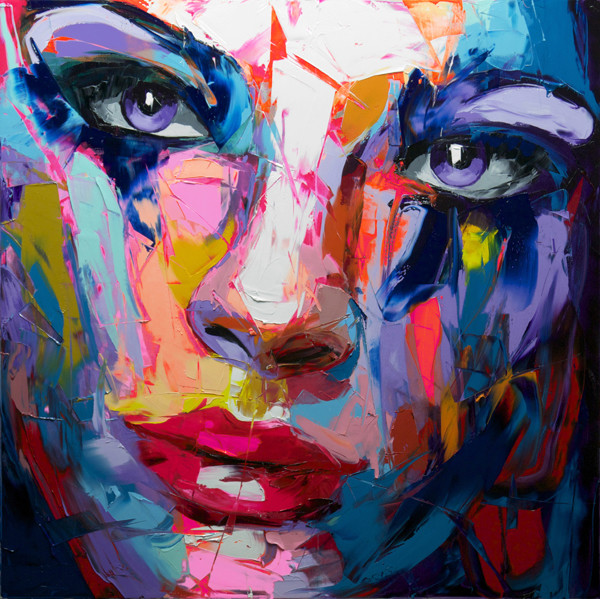 Francoise Nielly Portrait Palette Painting Expression Face064