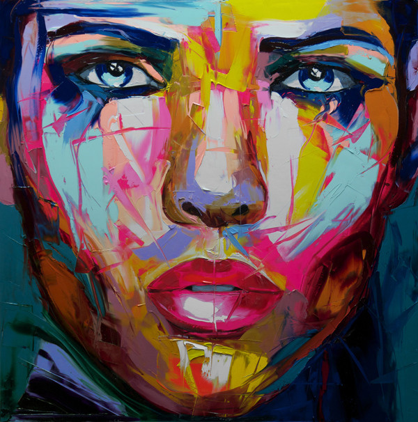 Francoise Nielly Portrait Palette Painting Expression Face066