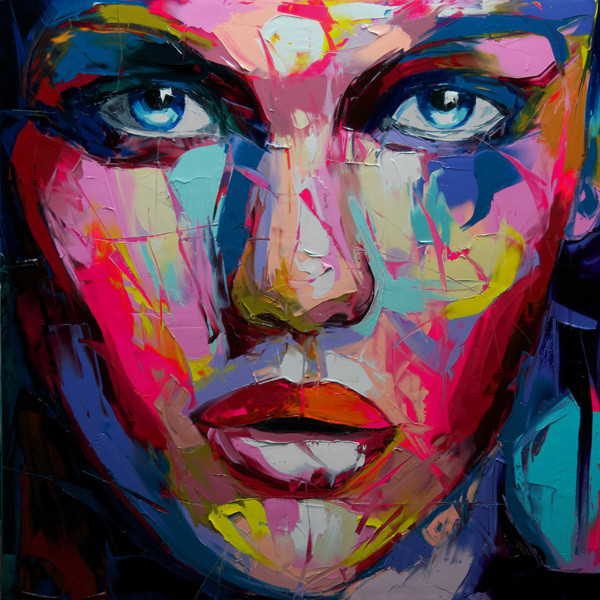 Francoise Nielly Portrait Palette Painting Expression Face069
