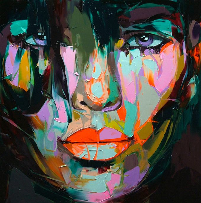Francoise Nielly Portrait Palette Painting Expression Face079