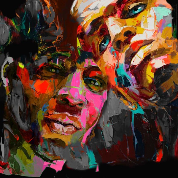 Francoise Nielly Portrait Palette Painting Expression Face083