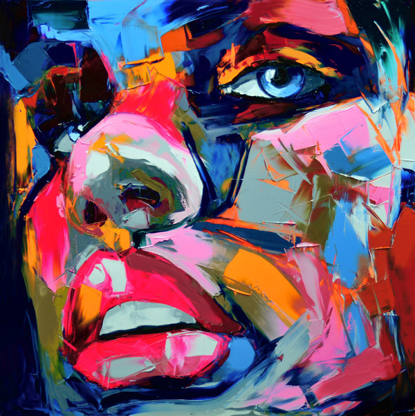 Francoise Nielly Portrait Palette Painting Expression Face089