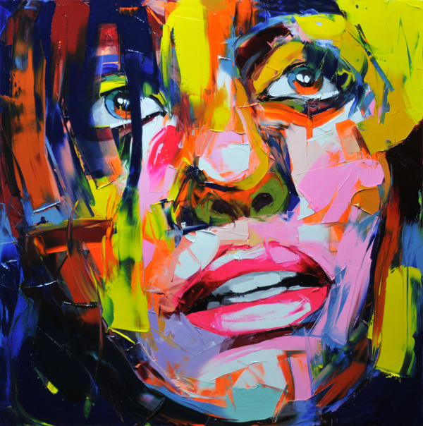 Francoise Nielly Portrait Palette Painting Expression Face092