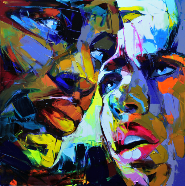Francoise Nielly Portrait Palette Painting Expression Face094