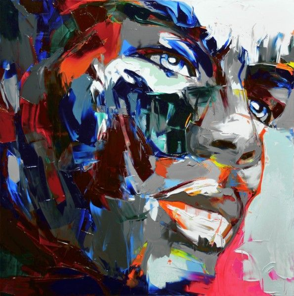 Francoise Nielly Portrait Palette Painting Expression Face095