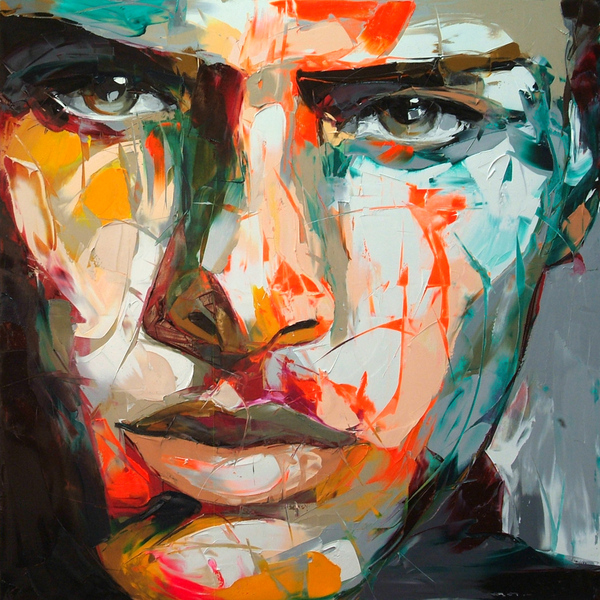 Francoise Nielly Portrait Palette Painting Expression Face097