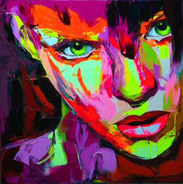 Francoise Nielly Portrait Palette Painting Expression Face099