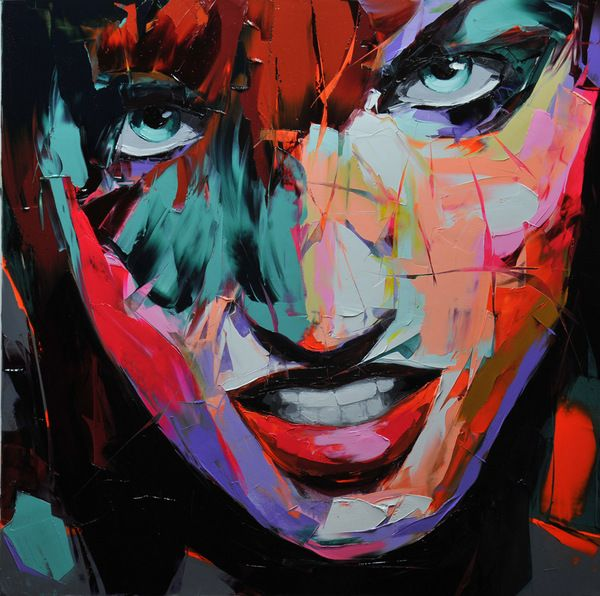 Francoise Nielly Portrait Palette Painting Expression Face106