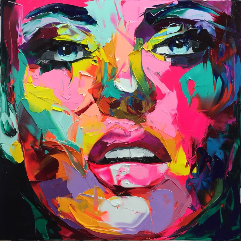 Francoise Nielly Portrait Palette Painting Expression Face110