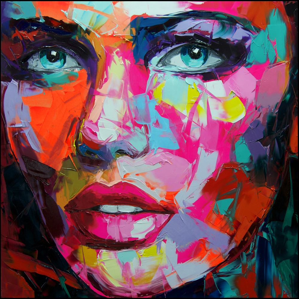 Francoise Nielly Portrait Palette Painting Expression Face115
