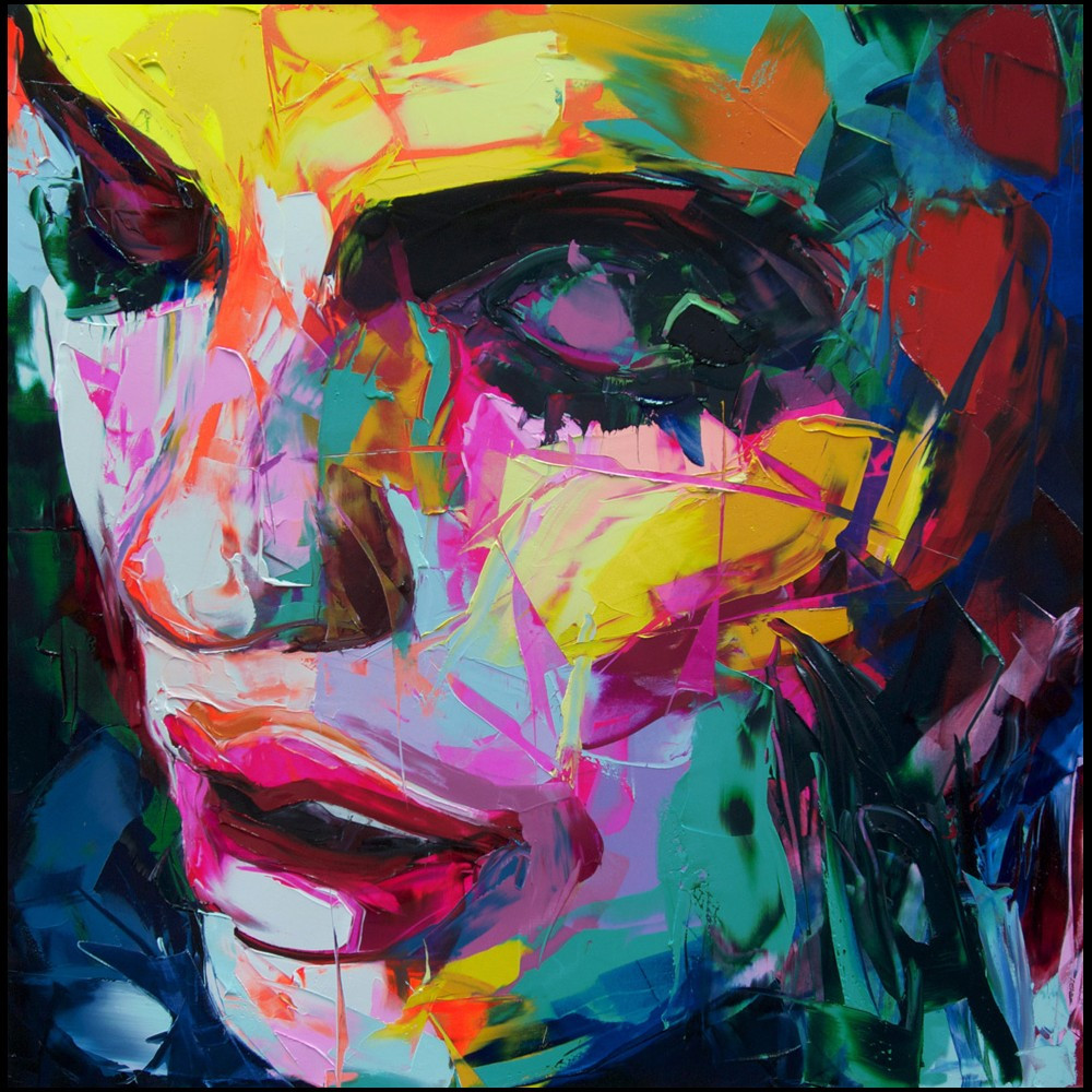 Francoise Nielly Portrait Palette Painting Expression Face119