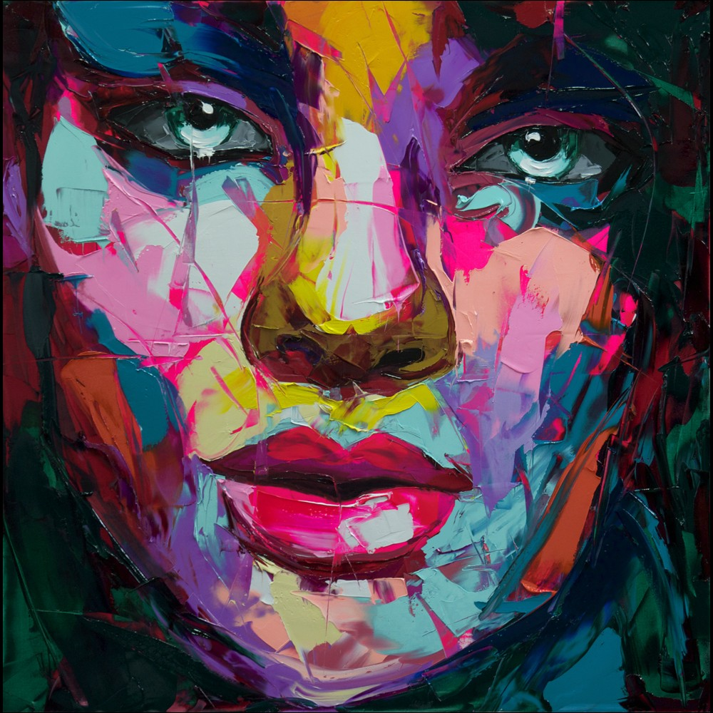 Francoise Nielly Portrait Palette Painting Expression Face136