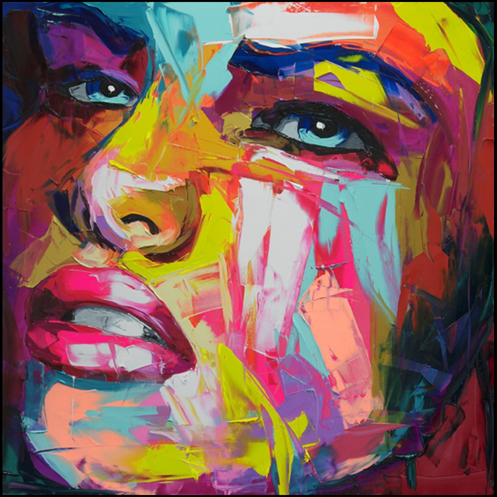 Francoise Nielly Portrait Palette Painting Expression Face141